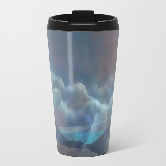 Distant Lighthouse Metal Travel Mug