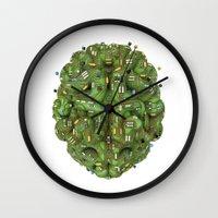 transistor Wall Clocks featuring Circuit brain by GrandeDuc