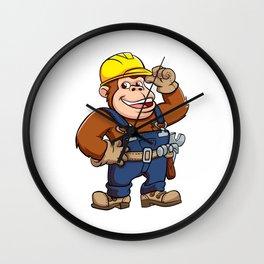 Cartoon of a Gorilla Handyman Wall Clock