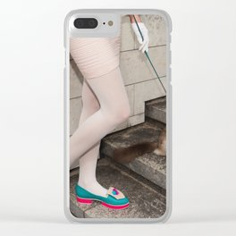 I've been brought up to always act like a lady Clear iPhone Case