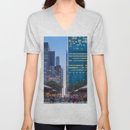 Bryant Park New york at dusk Unisex V-Neck