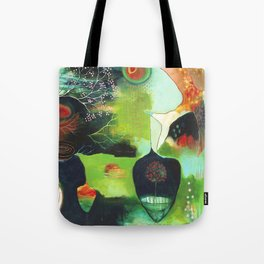 """Inner Whisper #1"" Original Painting by Flora Bowley Tote Bag"