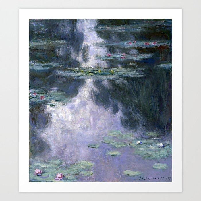 Monet - Water Lilies (Nymphéas), 1907 Art Print
