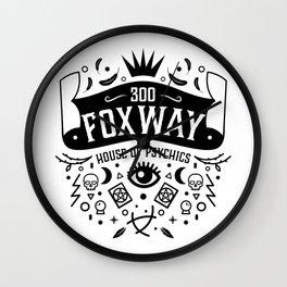 300 Fox Way Wall Clock