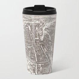 Large Map of Paris from 1618 Travel Mug