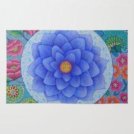 Violet Flower Mandala Rug