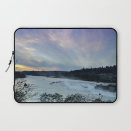 A CHILLY WINTER WILLAMETTE FALLS SUNSET Laptop Sleeve