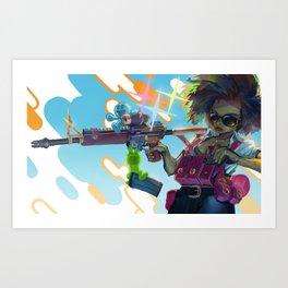 Madamoiselle Tireuse Art Print