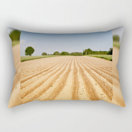 Ploughed agriculture field empty Rectangular Pillow