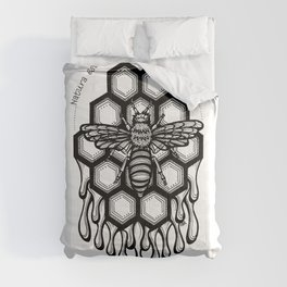 Honeycomb Bee- Latin Sayings (Dead Language) Comforters