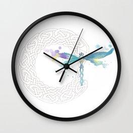 Celtic Knot Dragonfly Wall Clock