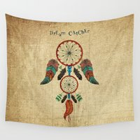 dream catcher Wall Tapestries featuring DREAM CATCHER by Heaven7