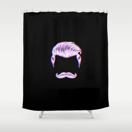 Barber Hair Funny Vintage Classic Barber Retro Distressed Gift Shower Curtain