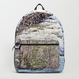 White Water in the Forest Backpack
