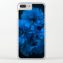 Cherry blossom blues Clear iPhone Case