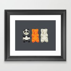 You don't fit in. Framed Art Print