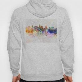 Brampton skyline in watercolor background Hoody