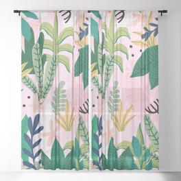 Into the jungle - sunrise Sheer Curtain