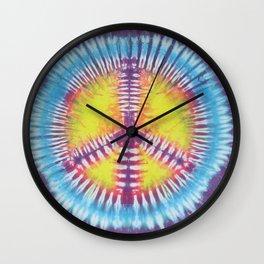 Peace Tie Dye Wall Clock