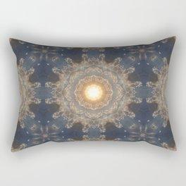 Blue yellow mandala Rectangular Pillow