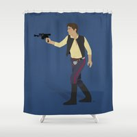 han solo Shower Curtains featuring Solo by DWatson