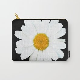 Large White Daisy on Black Background #decor #society6 #buyart Carry-All Pouch