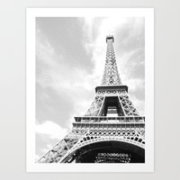 eiffel Art Prints featuring Eiffel by Fallon Chase