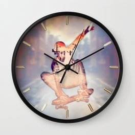 The Skateboarder Wall Clock