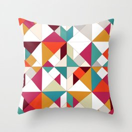 tangram geo Throw Pillow