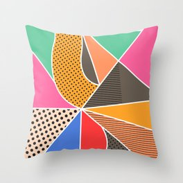 color segments 003 Throw Pillow
