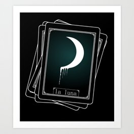 Luna Tarot Card Art Print