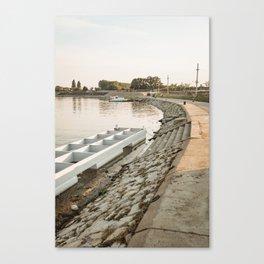 Tisa/Tisza river near Becej, Serbia Canvas Print