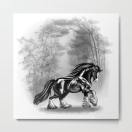 Black Shire Metal Print