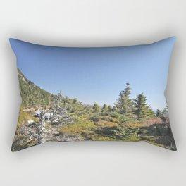 Alpine Mountain Landscape, Vertical Rectangular Pillow