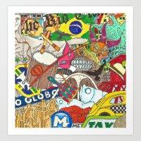 rio de janeiro Art Prints featuring RIO DE JANEIRO by The Gold Egg Company