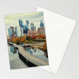 Philadelphia Fall Skyline Stationery Cards