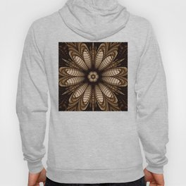 Abstract flower mandala with geometric texture Hoody