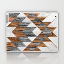 Urban Tribal Pattern 12 - Aztec - Wood Laptop & iPad Skin