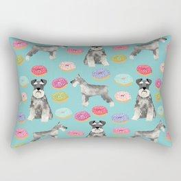 Schnauzer dog breed donuts doughnut pet art schnauzers pure breed gifts Rectangular Pillow