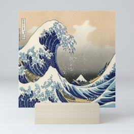 seascape painting japanese ukiyo e art the great wave off kanagawa Mini Art Print