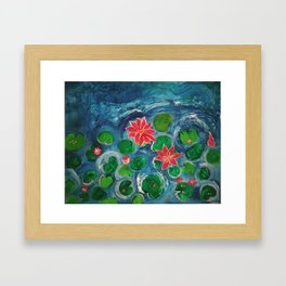 The Sunset Lake Framed Art Print
