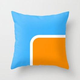 Orange loves Blue Throw Pillow