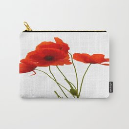 Delicate Red Poppies Vector Carry-All Pouch
