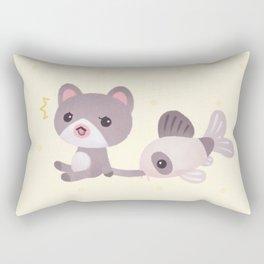 Cat and catfish Rectangular Pillow
