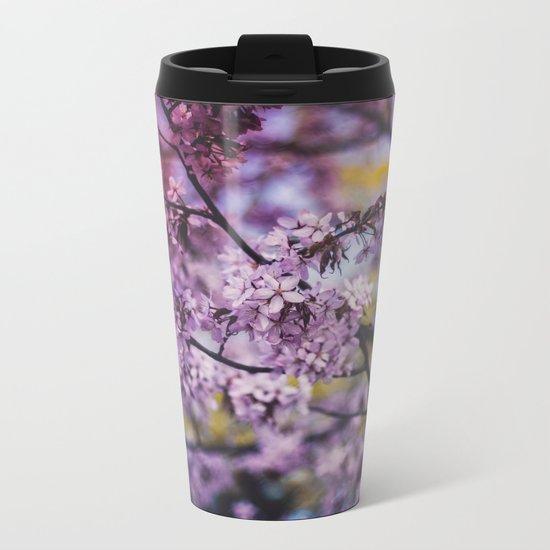 Spring Bloom Metal Travel Mug