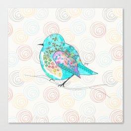 Quirk the Blue Bird Canvas Print