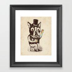 Strange Dog Framed Art Print