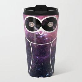 Owl Night Long Metal Travel Mug