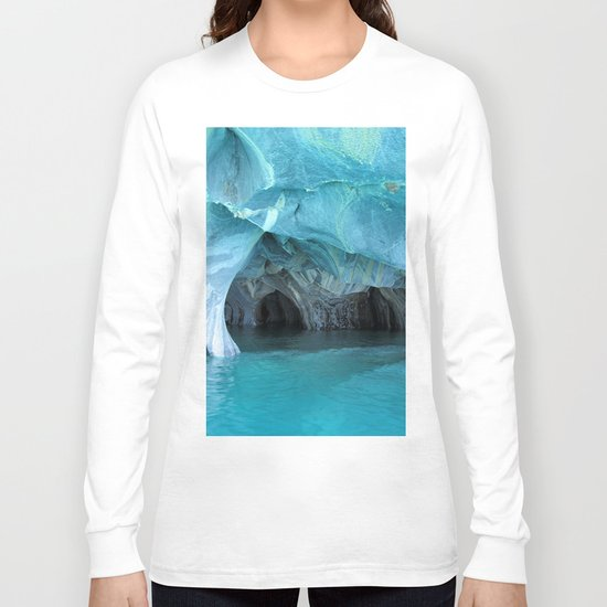Marble blue 3 Long Sleeve T-shirt