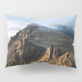 Mountain range in Iceland during Sunset – Landscape Photography Pillow Sham